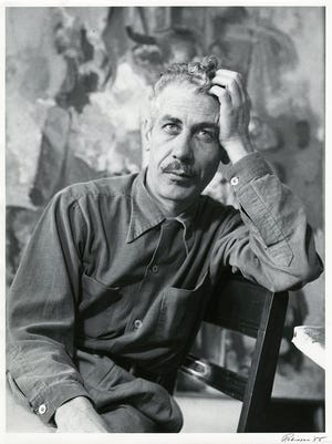 """Gerald Robinson's """"Portrait of Louis Bunce,"""" 1955, gelatin silver print, is part of the collection of the Hallie Ford Museum of Art at Willamette University."""