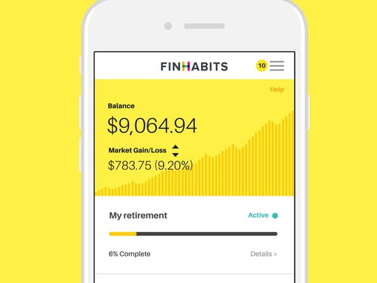 This illustration shows how a page on the Finhabits app looks for an app subscriber.