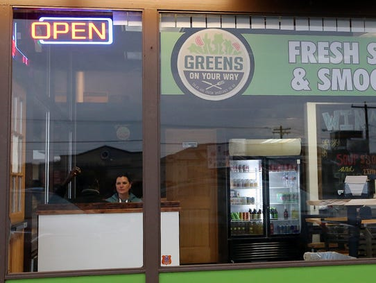 Greens On Your Way is located in a building that most recently housed Genuine Burgers.