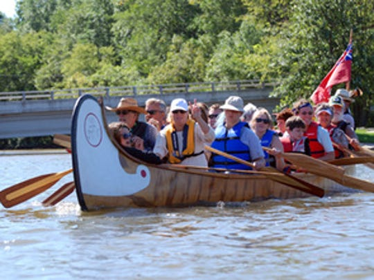 Pictured is a typical ride in the Voyageur' Canoe.