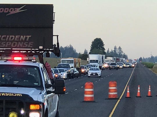 An early morning crash closed two lanes of northbound I-5 near Donald/Aurora.