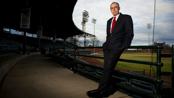 Attorney and Evansville Otters co-owner Bill Bussing at Bosse Field, Thursday, Dec. 29. 2016.