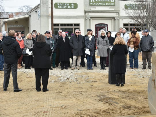 Noon Friday saw a groundbreaking ceremony in Millville