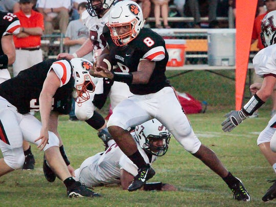 MTCS's Joseph Peck has led the Cougars to a 6-0 start as a dual-threat quarterback.