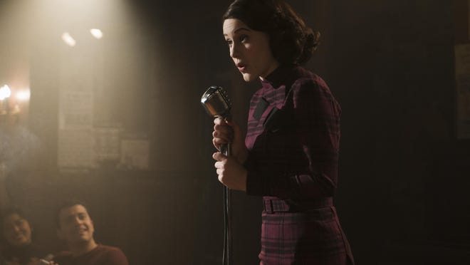 """Rachel Brosnahan stars as a housewife who is learning to be a comic in """"The Marvelous Mrs. Maisel."""""""