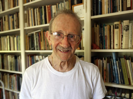 Former U.S. poet laureate and Pulitzer Prize winner Philip Levine at his Fresno, Calif. home on Tuesday, July 10, 2012. 