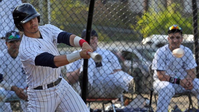 Eastchester's Christian Aliberti (6) rounds the bases after hitting a home run during baseball at Eastchester High School on May 12, 2016.