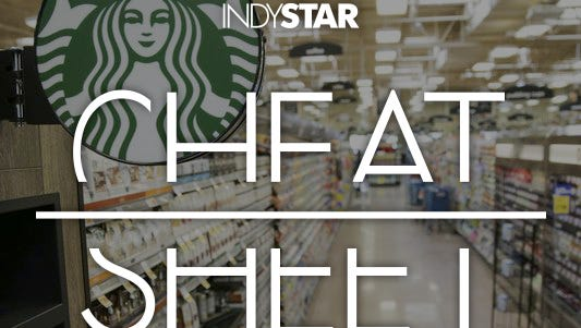 A display of Starbucks brand coffee is shown at a new Kroger Marketplace at 8745 South Emerson Ave., which combines regular grocery food items with housewares and clothing. There also will be a Starbucks coffee shop in the store.