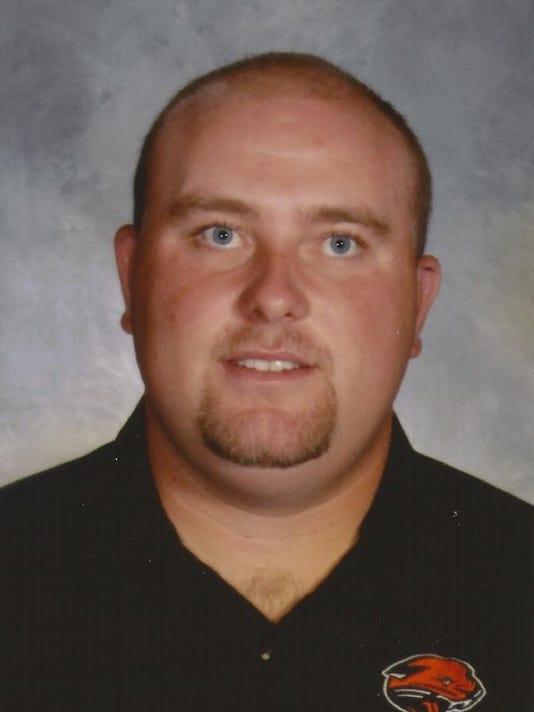 Dan Falor, Alma High School football coach, fall 2014