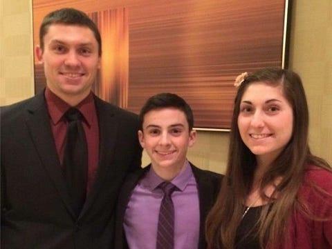 The Semenetz siblings. From left to right: Zach, Garrett and Rebecca.