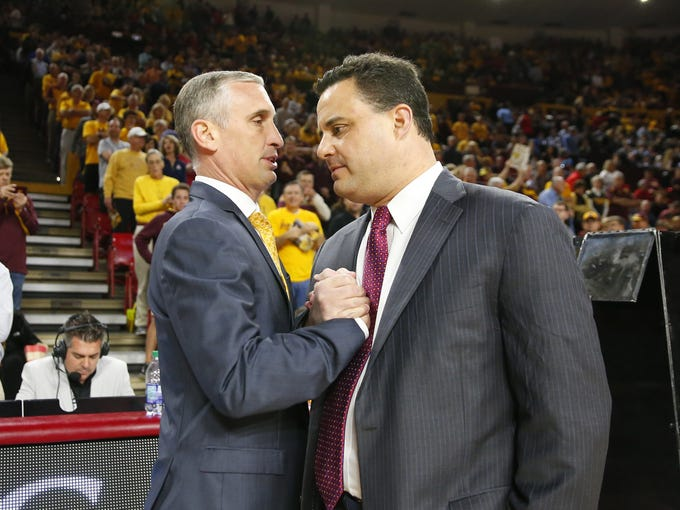 Arizona State Sun Devils head coach Bobby Hurley and