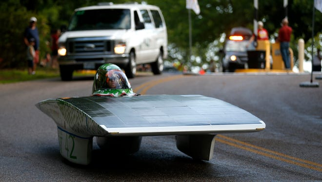 The solar car from Missouri S&T finished in 4th in the American Solar Challenge. Twelve cars are made the 1,975-mile race from Brecksville, Ohio to Hot Springs, South Dakota.