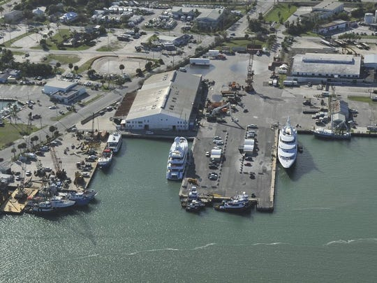 Two super yachts are seen Jan. 7, 2016, at the Port