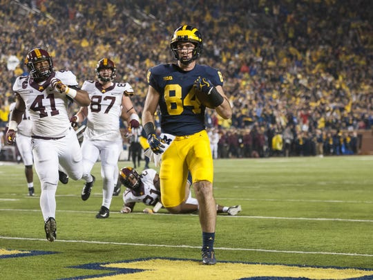 Michigan tight end Sean McKeon