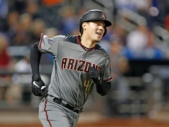 Arizona Diamondbacks' Wilmer Flores runs the bases after hitting a solo home run during the fifth inning of a baseball game against the New York Mets, his former team, Monday, Sept. 9, 2019, in New York. (AP Photo/Kathy Willens)