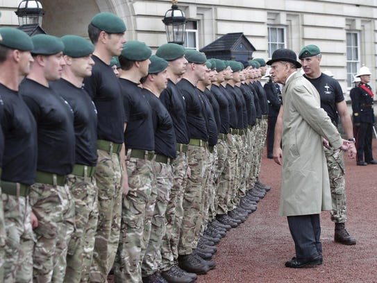 Britain's Prince Philip, in his role as Captain General