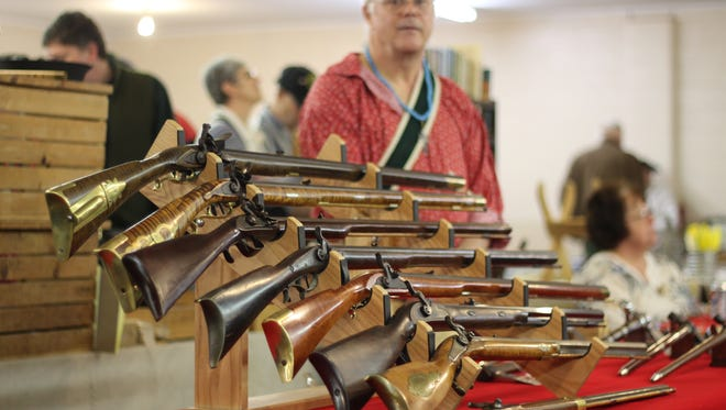 Dan Vanderhoff, of Fostoria, builds and collects historical American long rifles.