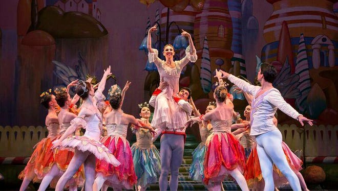 """In this undated photo provided by PSG/PR, performers act out a scene from Colorado Ballet's version of """"The Nutcracker, """" at Ellie Caulkins Opera House, in Denver. The version has won the Goldstar National Nutcracker Award, beating over 80 other """"Nutcracker""""-themed productions to be named an audience favorite. (Mike Watson/PSG/PR via AP)"""