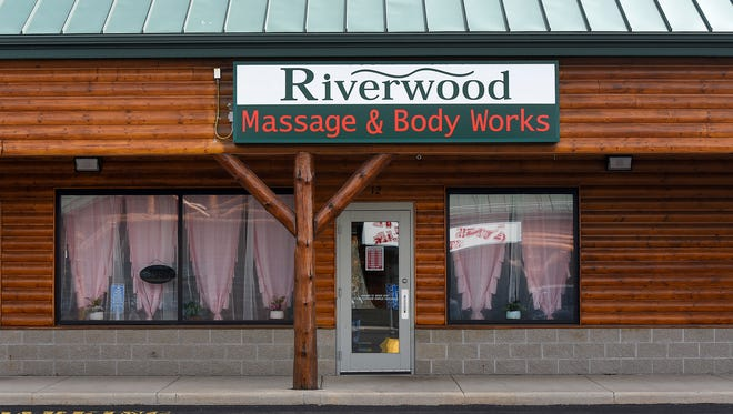 Riverwood Massage & Body Works is shown Friday, May 11, in the Riverwood Mall in Waite Park. Owner Yanhang Lin, 33, of St. Cloud was arrested in early May by the Central Minnesota Human Trafficking Task Force. She is suspected of sex trafficking and promoting prostitution through the business.