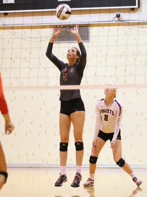Unioto's Madi Eberst recorded her 2,000th career assist in a win over Westfall Thursday night. Eberst says she now has her sights on the SVC assist record of 2,465.