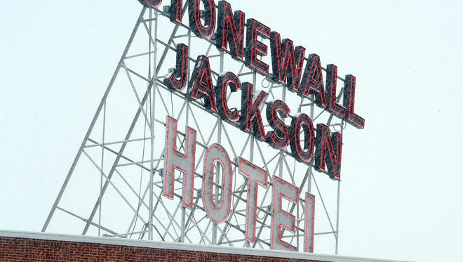 The Stonewall Jackson Hotel in downtown Staunton.