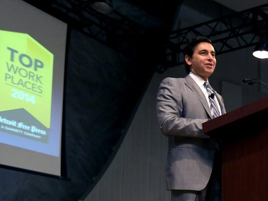 Ford Motor President, CEO Mark Fields delivers the