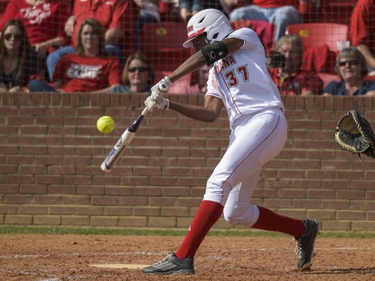 UL shortstop DJ Sanders (37) is now tied for second on the team in home runs with 17.