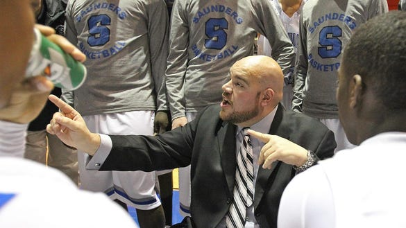 Saunders boys basketball head coach Anthony Nicodemo,