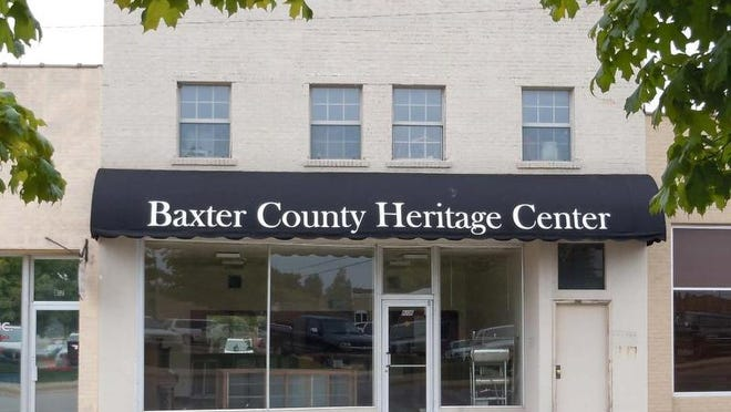 The Baxter County Historical and Genealogical Society will host an open house from noon until 3 p.m. Sunday. The center is located at 808 S. Baker St.