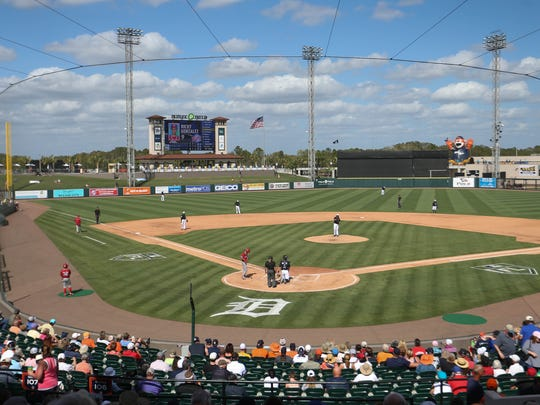 View of Publix Field at Joker Marchant Stadium as the Detroit Tigers open exhibition play against Florida Southern on Thursday, Feb. 22, 2018 in Lakeland, Fla.