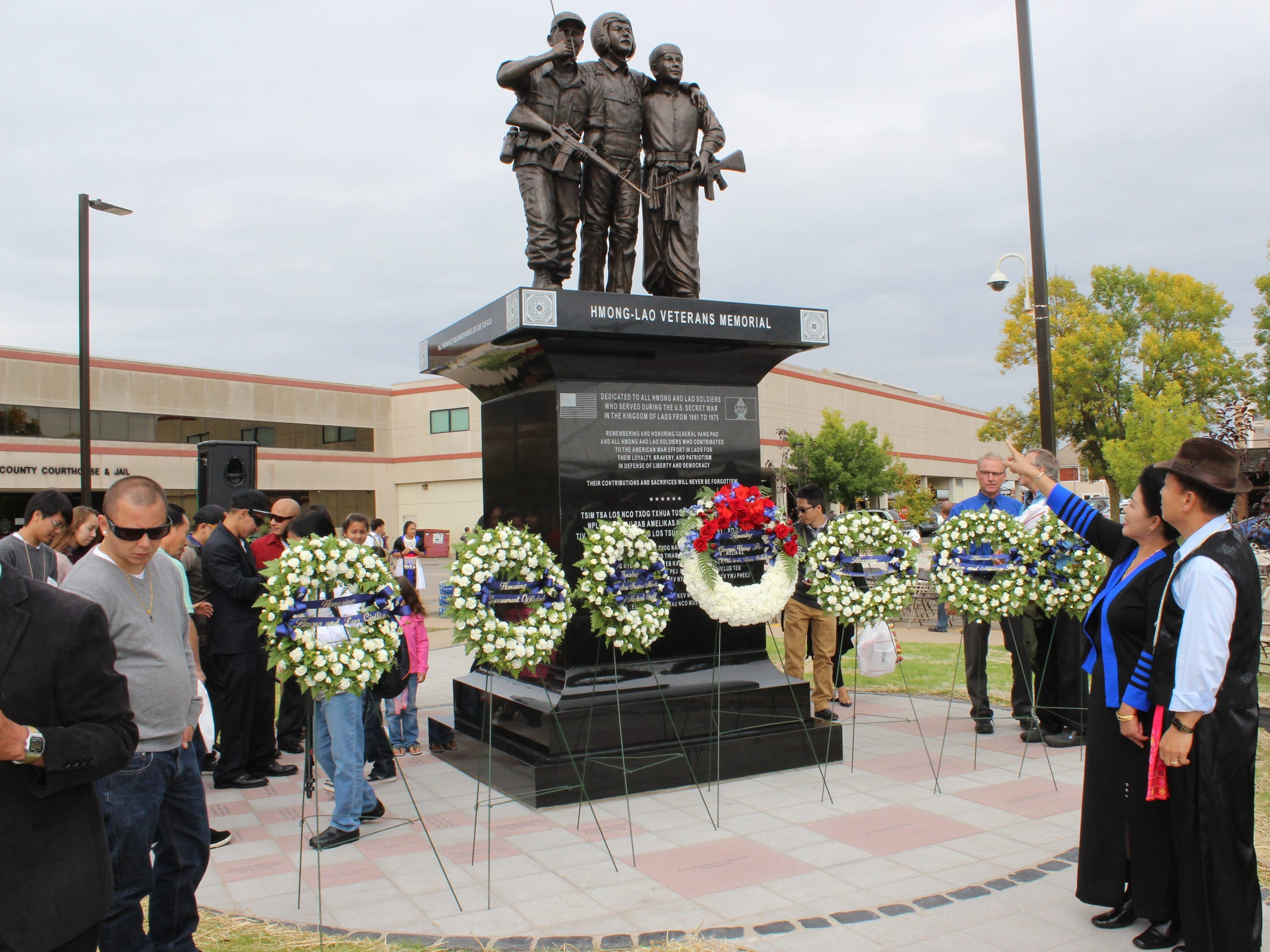 After the unveiling of the Hmong Vietnam War Veterans