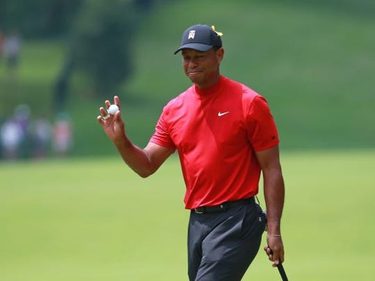 Tiger Woods wowed the gallery at Jack's Place on the front nine Sunday and at one point was only three shots off the lead in the final round. (Matt Sullivan/Getty Images)