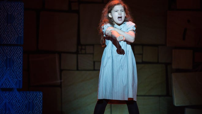 """Jaime MacLean is one of three girls who alternate in the title role of the national tour of """"Matilda the Musical."""" The stage adaptation of Roald Dahl's book runs through April 16 at the Aronoff Center as part of the Broadway in Cincinnati series."""