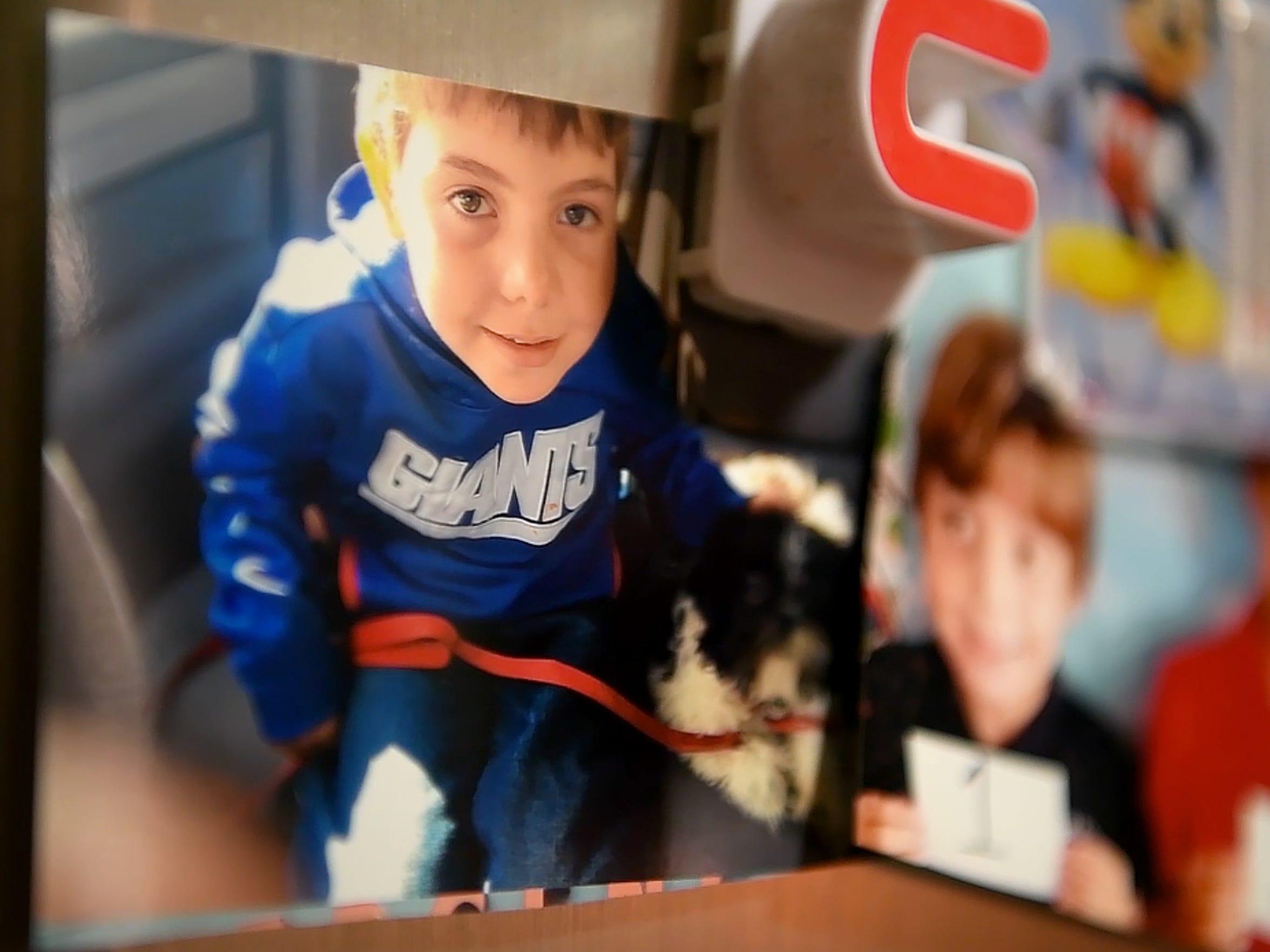 School pictures of Joe Maldonado, 8, who was kicked
