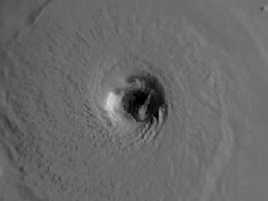 Hurricane Katrina's eye (Source: National Weather Service New Orleans/Baton Rouge Office)