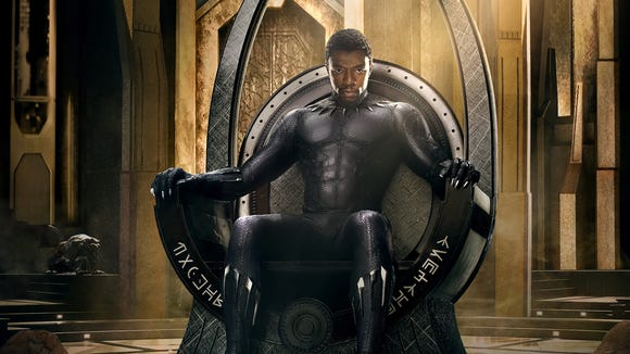 First 'Black Panther' poster gives Chadwick Boseman the royal treatment.