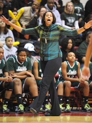 Cass Tech girls basketball coach Marissa Thrower, shown here in last season's PSL championship game, has not experienced anything like Wednesday night's 80-0 victory over Detroit Osborn.