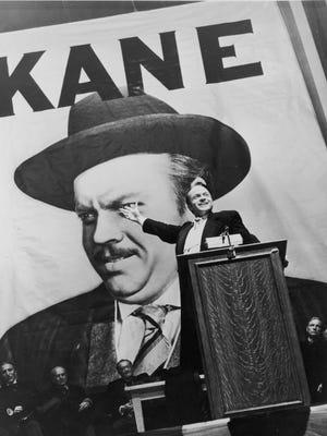 "Orson Welles stars as mogul Charles Foster Kane in ""Citizen Kane."""