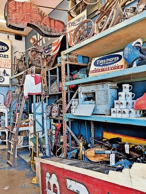 """Explore unique items from the """"American Pickers"""" TV show at Antique Archaeology in LeClaire, Iowa."""