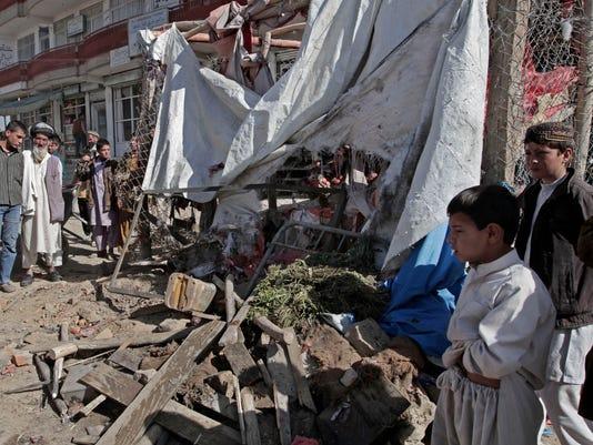 afghan roadside bomb wreckage