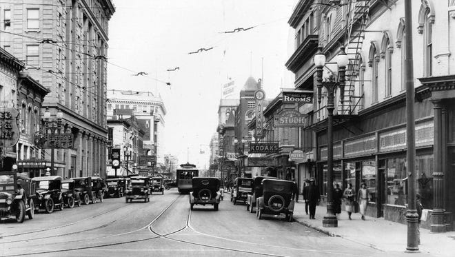 Here is a view looking east from the 100 block of San Antonio Avenue circa 1925.