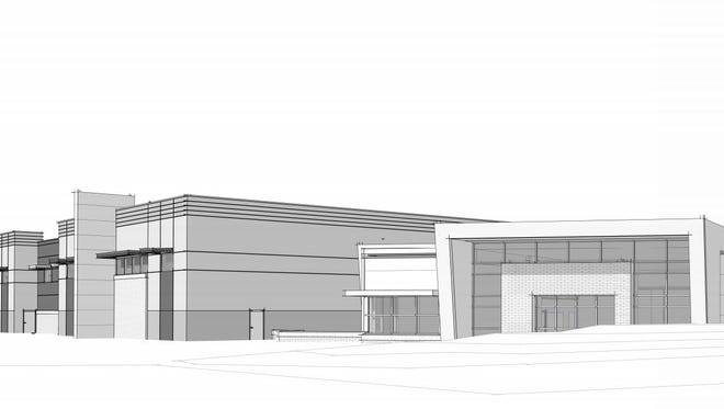This rendering shows the proposed look of WilMarc Medical's office and warehouse space planned at the Harmony Technology Park in southeast Fort Collins