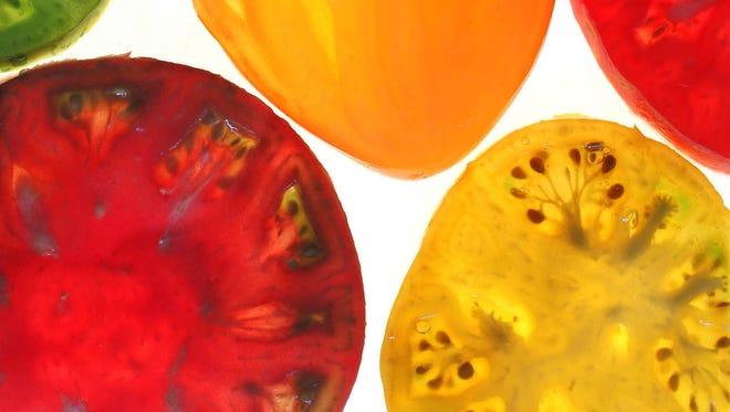 Heirloom tomato varieties.