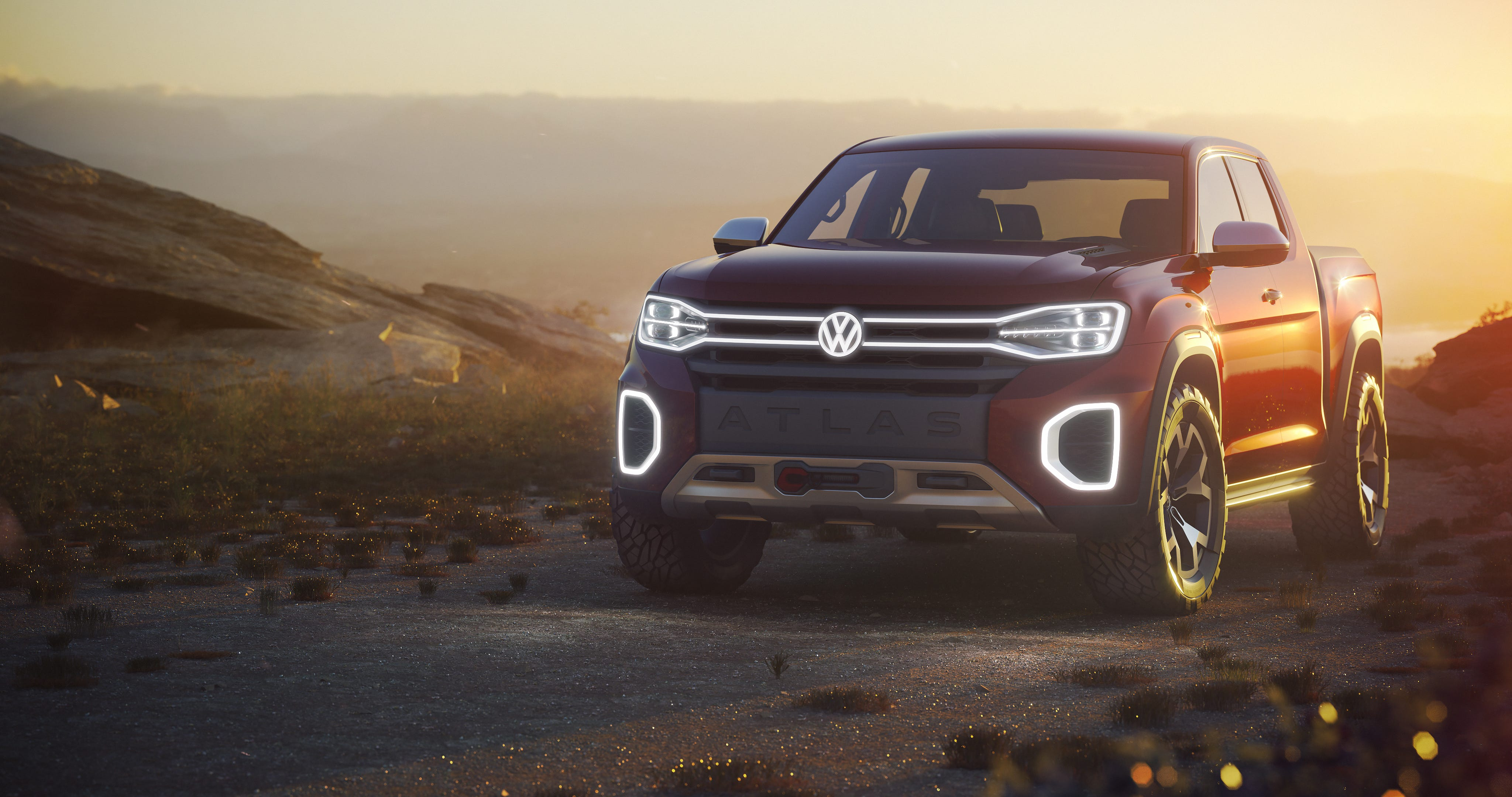 The Volkswagen Atlas Tanoak Pickup Truck Concept Vehicle