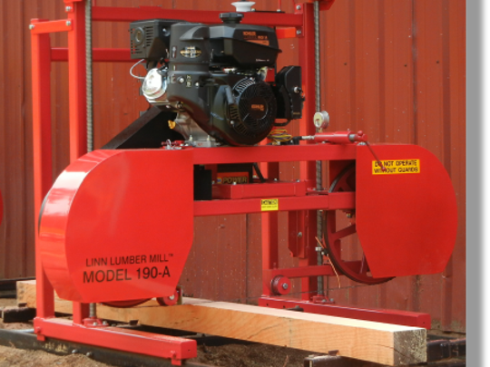 A photo of what the mobile sawmill would have looked like before the crash.