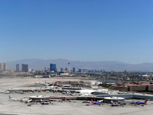 Aerial view of the Las Vegas McCarran In