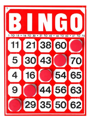 BINGO at the Rochester Senior Center will be held on Wednesdays at 12:30 p.m.