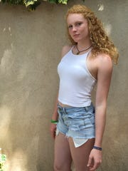 Mary Shroll, sophomore volleyball player at Tempe Prep