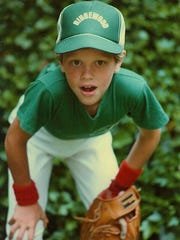 Willie Geist playing little league baseball in Ridgewood