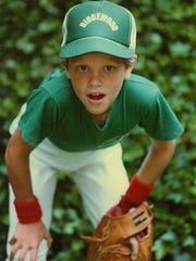 Willie Geist playing little league baseball in Ridgewood